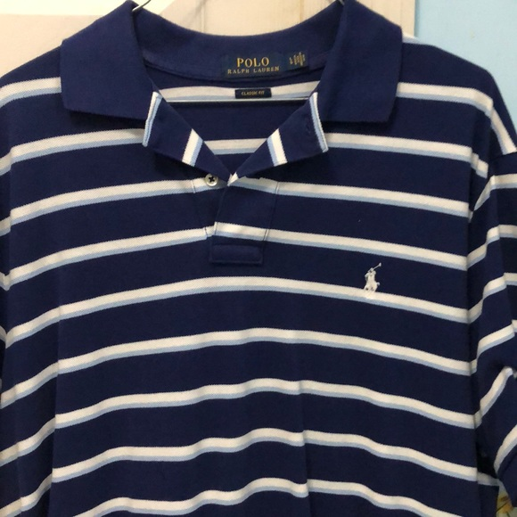 Polo by Ralph Lauren Other - Polo Ralph Lauren Blue Striped Polo